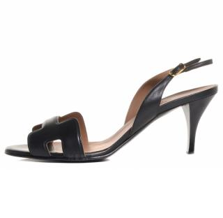 Hermes Nappa Leather Night 70 Slingback Sandals