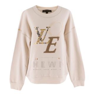 Louis Vuitton Beige Love Wool Blend Sweater