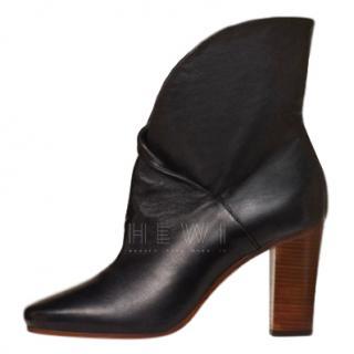 Celine Black Heritage Wrap Booties