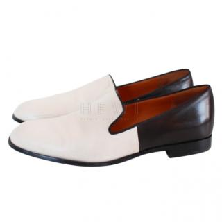 Marc Jacobs black and ivory leather flats