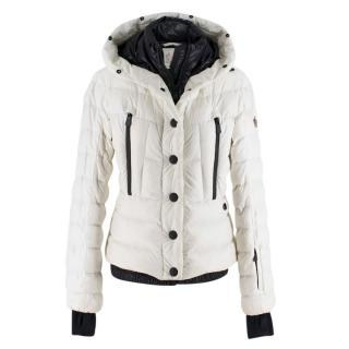 Moncler White New Down Hooded Jacket