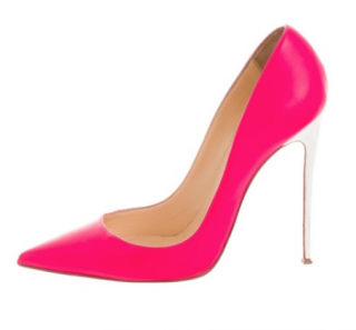 Christian Louboutin Neon Pink & White So Kate Pumps