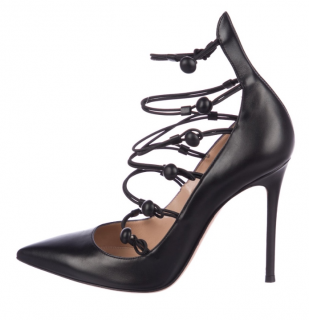 GIanvito Rossi Black Lace-Up Pumps