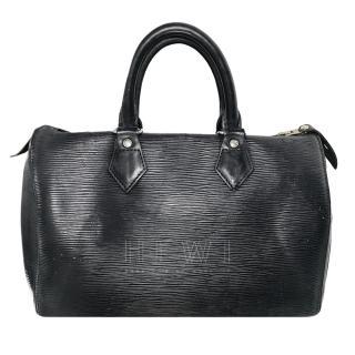Louis Vuitton Black Epi Leather Speedy Bag