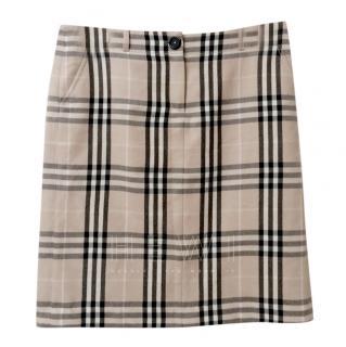 Burberry Beige Horsecheck Skirt