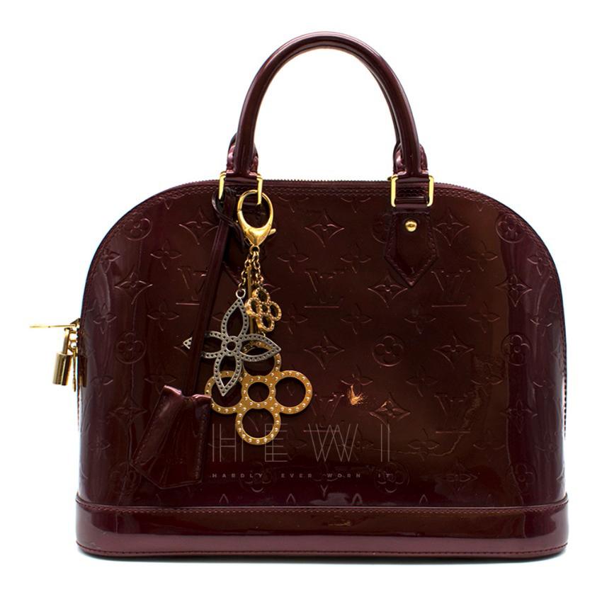 Louis Vuitton Alma PM Leather Bag W/ Tapage Charm