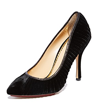 Charlotte Olympia Bacall Velvet Pumps