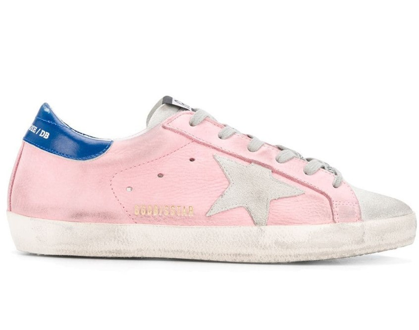 Golden Goose pink SUPERSTAR  trainers available in  size 38 or 40 eu.