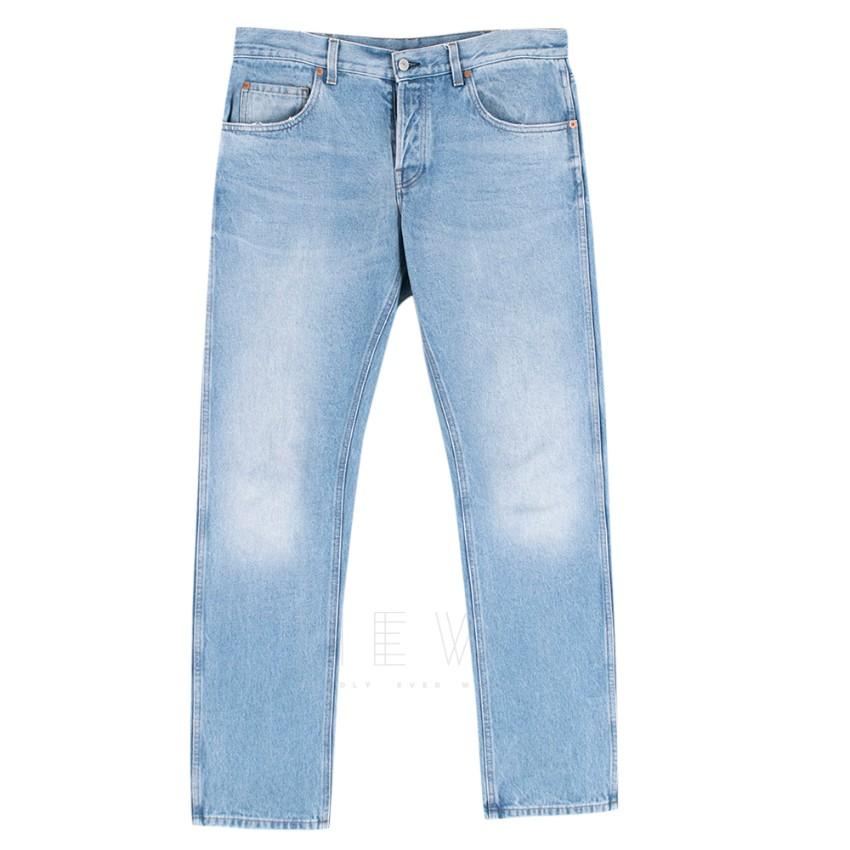 Gucci Men's Blue Straight cut jeans