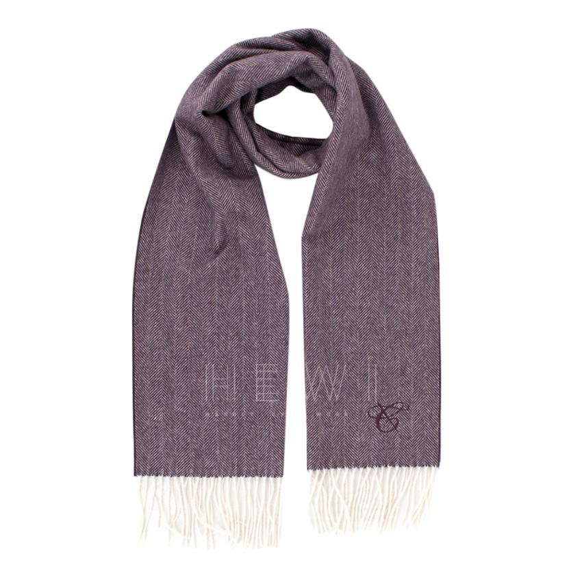 Canali Wool & Angora Blend Purple Scarf