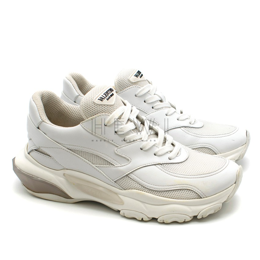 Valentino Garavani bounce white leather sneakers
