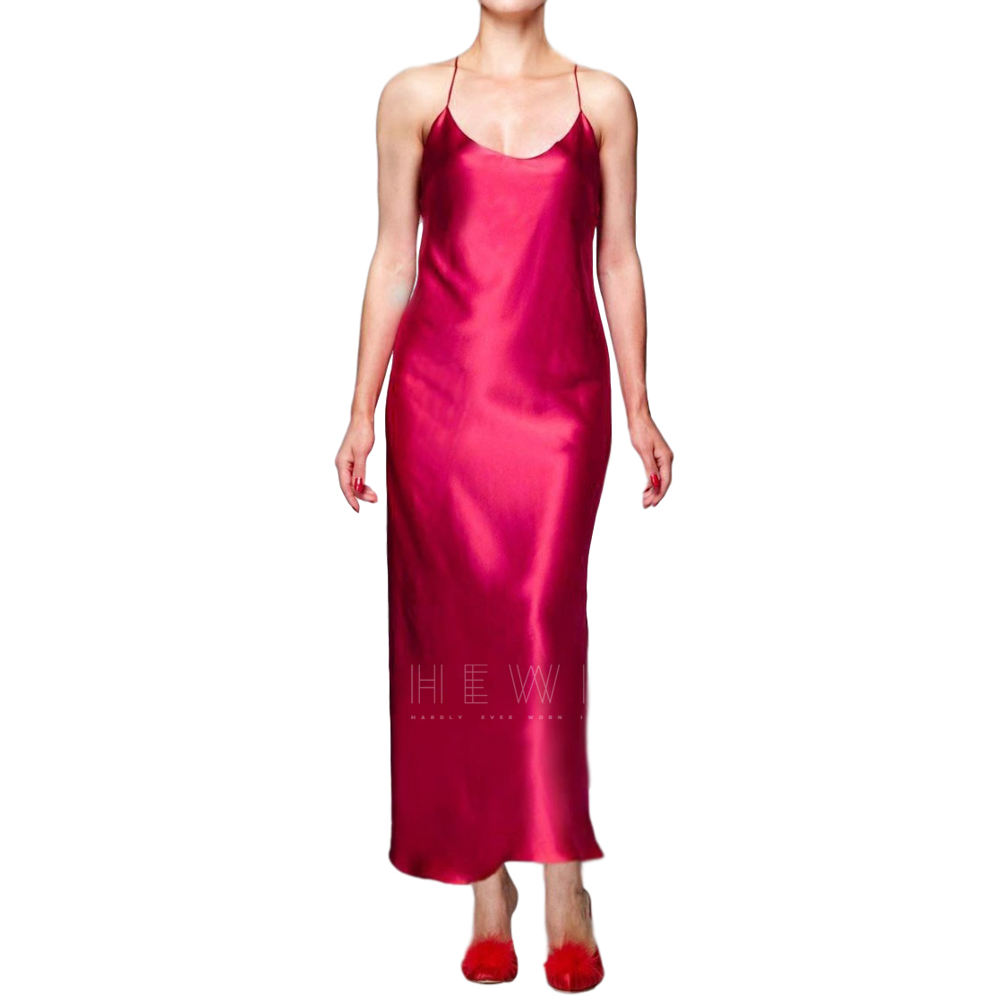 Maguy de Chadirac Fuchsia Silk Slip Dress