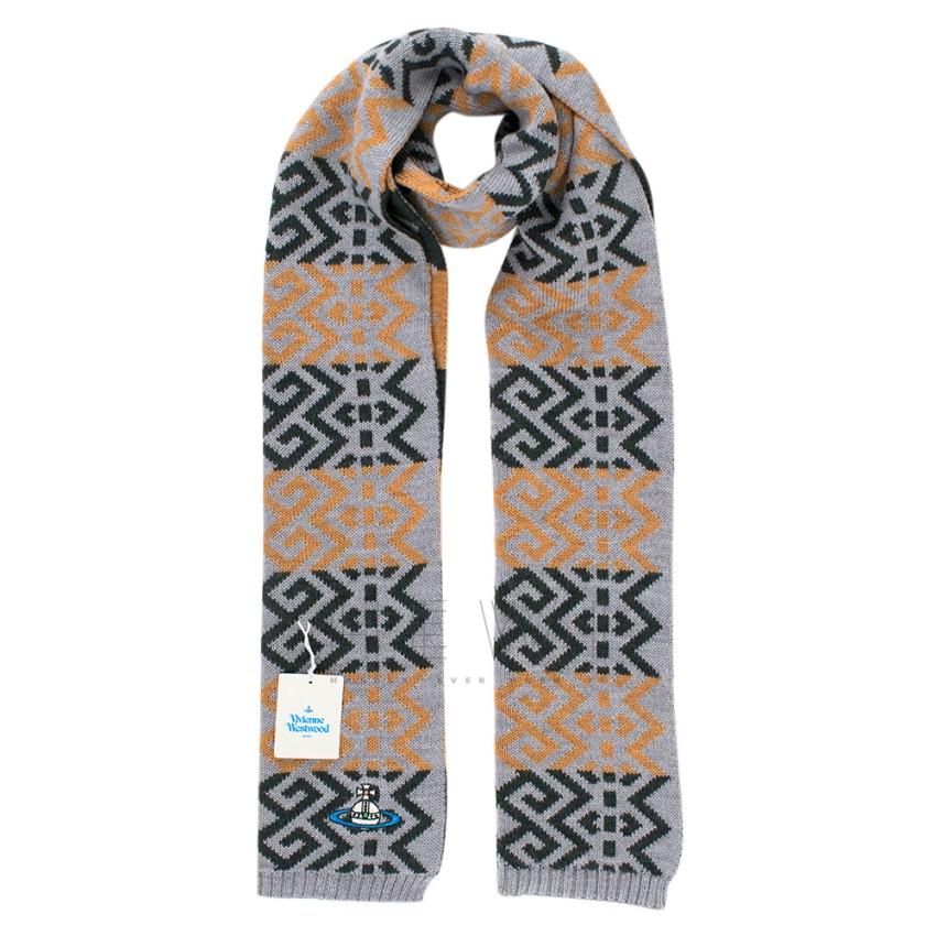 Vivienne Westwood Wool Geometric Print Scarf