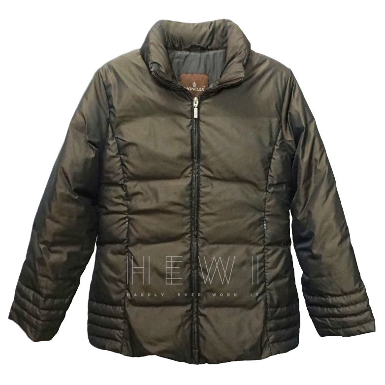 Moncler Goose Down Brown Puffer Coat
