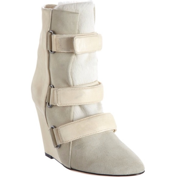 Isabel Marant Scarlet Ponyhair Wedge Boots