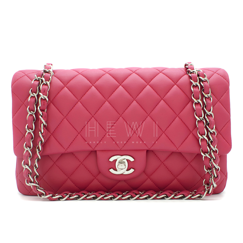 Chanel Pink Quilted Leather Small Double Flap