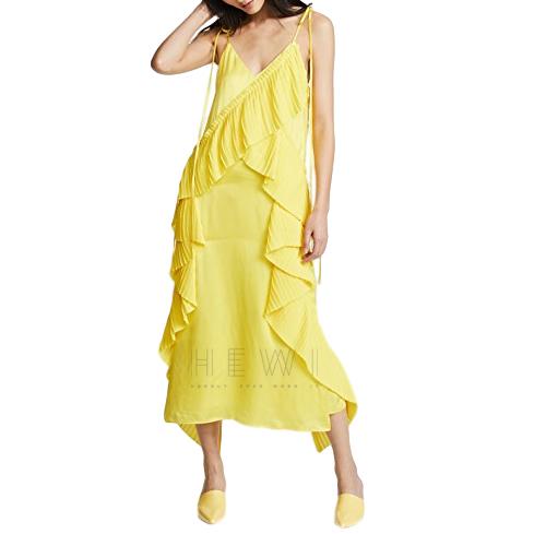 Kenzo Ruffled Slip Midi Dress