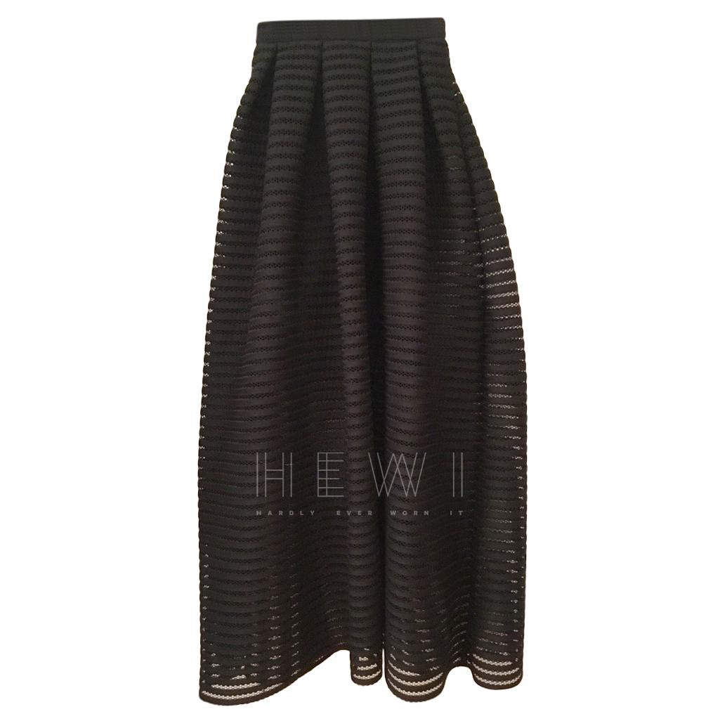 Maje Black Semi Sheer Skirt