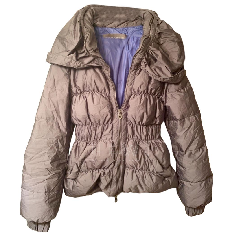 Ermanno Scervino Grey Down Jacket