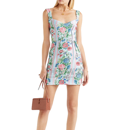 Emilia Wickstead Judita Floral Cloque Mini Dress