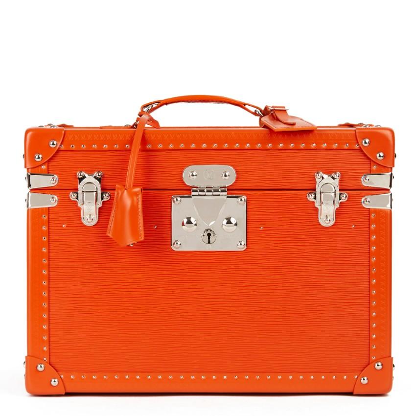 Louis Vuitton Epi Leather Orange Boite Pharmacie Cosmetic Trunk