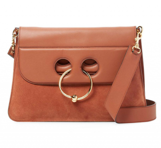 J.W. Anderson Pierce Leather & Suede Shoulder Bag