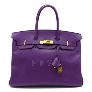 Hermes Epsom Leather Ultra Violet 35cm Birkin