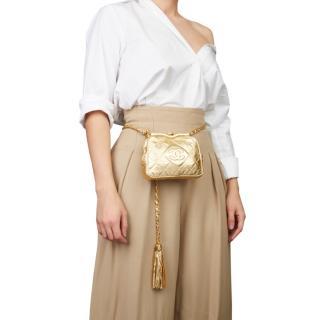 Chanel Metallic Vintage Belt Bag