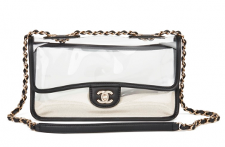 Chanel PVC & Leather Naked By The Sea Bag