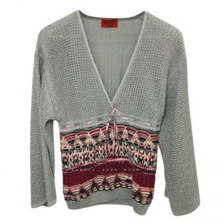 Missoni Grey Metallic Knit Cardigan