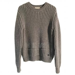 Burberry wool & cashmere blend chunky knit sweater