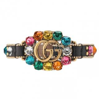 Gucci Multicolured Crystal GG Bracelet