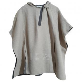 Halston Heritage wool poncho