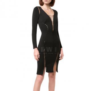 Altuzarra Black Wool Lace-Up Dress
