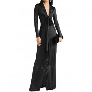 Givenchy Knotted Gown in Black Jersey