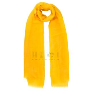 Loro Piana Yellow Soft Cashmere Shawl