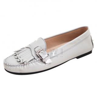 Tod's Patent Leather Grey Loafers
