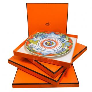 Hermes Patchwork Collection Alize Set of 4 Plates