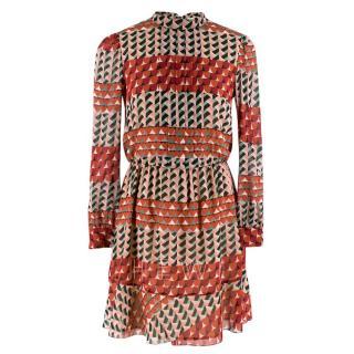 Red Valentino Geometric Print Mini Dress