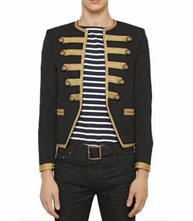 Saint Laurent Men's Wool Embroidered Officer Jacket