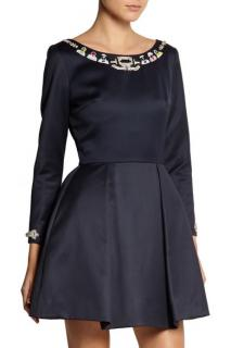 Mary Katrantzou Copelia Embellished Wool Mini Dress