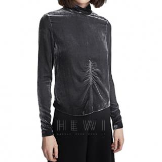 McQ Ruched Velvet Top