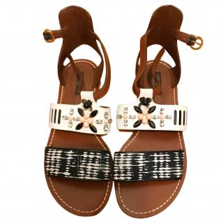 Louis Vuitton Crystal Embellished Sandals