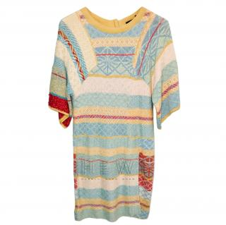 Sonia Rykiel Knit Multi-Coloured Dress