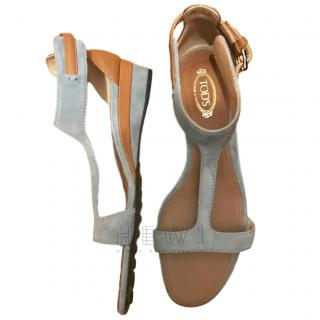 Tod's Suede & Leather Sandals