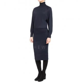 Stella McCartney Blue Wool & Silk Blend Dress