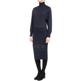 Stella McCartney Blue Wool & Silk Blend Dress
