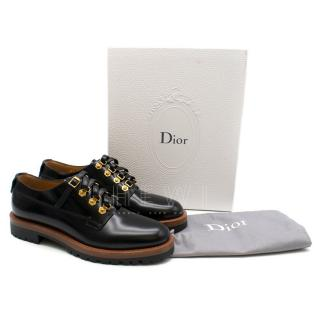 Dior Black Lace Up Platform Brogues