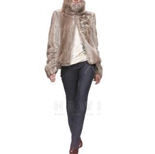 Chloe by Stella McCartney Runway Embroidered Faux Fur Jacket