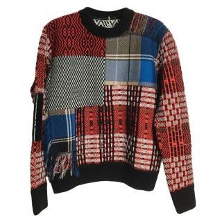 Sonia Rykiel Oversize Patchwork Sweater